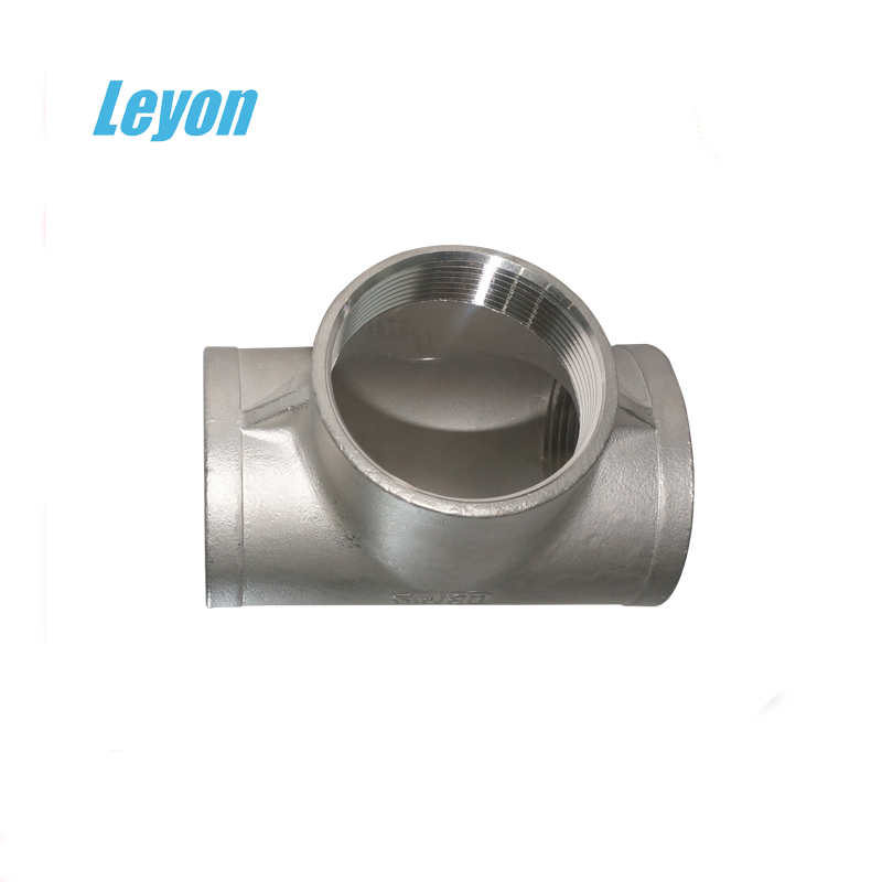 "1/2"" pipe fitting high pressure stainless steel cross tee joints SS304 stainless steel equal tee"