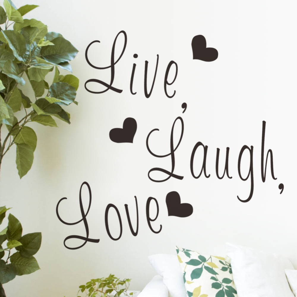 Get Quotations · 3D Wall Decal Removable Art Home Live Laugh Love Wall  Stickers Kids Room Waterproof Wall Stickers Part 89