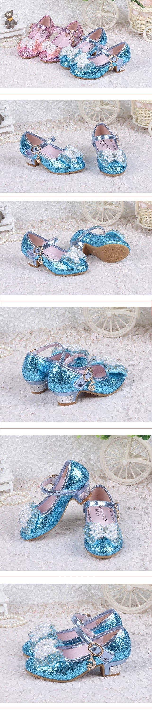 Enfants 2017 New Children Princess Sandals Kids Girls Wedding Shoes ...