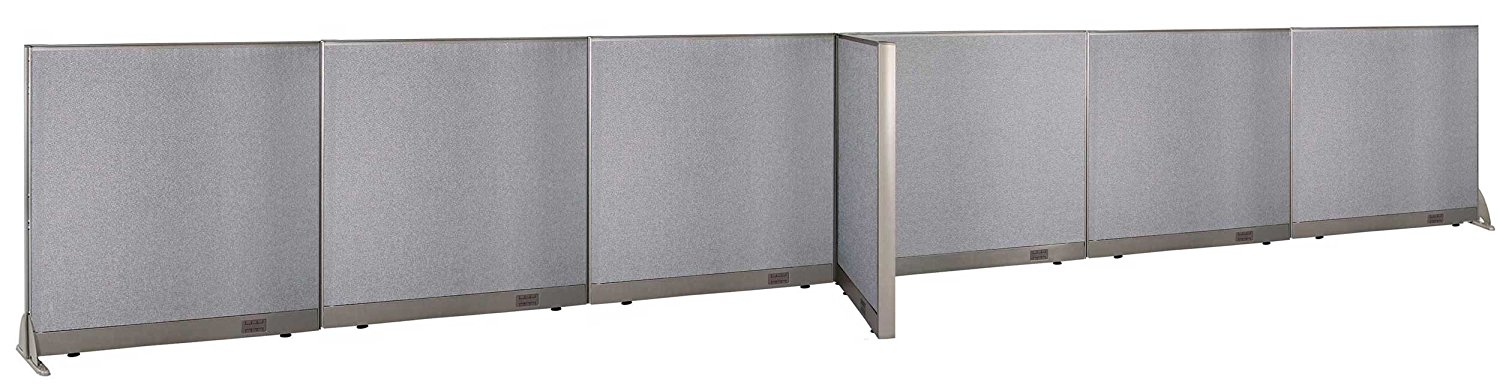 "GOF T-Shaped Freestanding Partition 30""D x 288""W x 48""H / Office, Room Divider (30""D x 288""W x 48""H)"