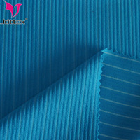 88 nylon blend 12 spandex knitted thick ribbed fabric for swimwear