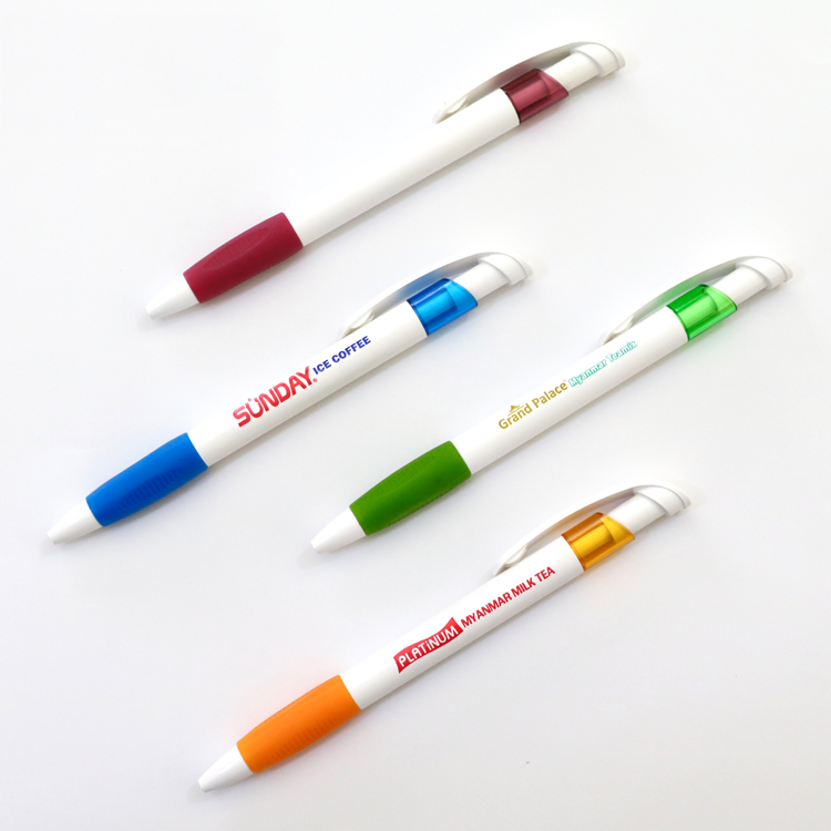 Wholesale custom printed branded logo advertising ballpoint pen for promotion
