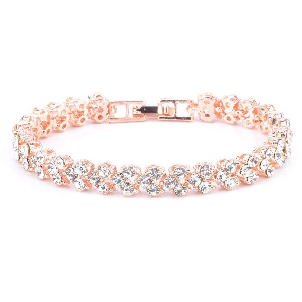 Womens Simple Diamond Bracelet Crystal Bracelets Gifts