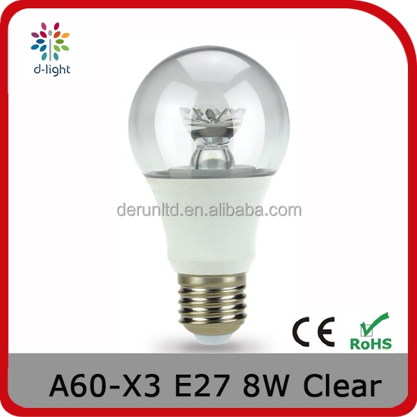 A19 DIMMING 600LM 8W REPLACEMENT 60W E27 A SHAPE CLEAR DECORATIVE LED BULB FOR CANADA