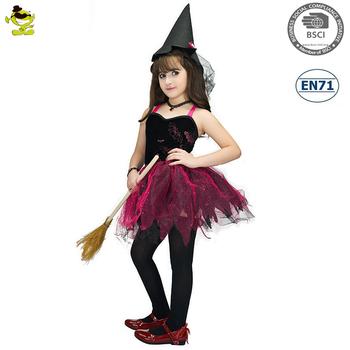 db5731a5842 Filles Sorcière Robe Tutu Costumes Enfants Rose Fée Cosplay Vêtements De  Fête De Carnaval Jolie Magicienne