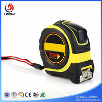 ABS+TPR distance measure tool inside tape measure high Quality rubber cover self lock measuring tools