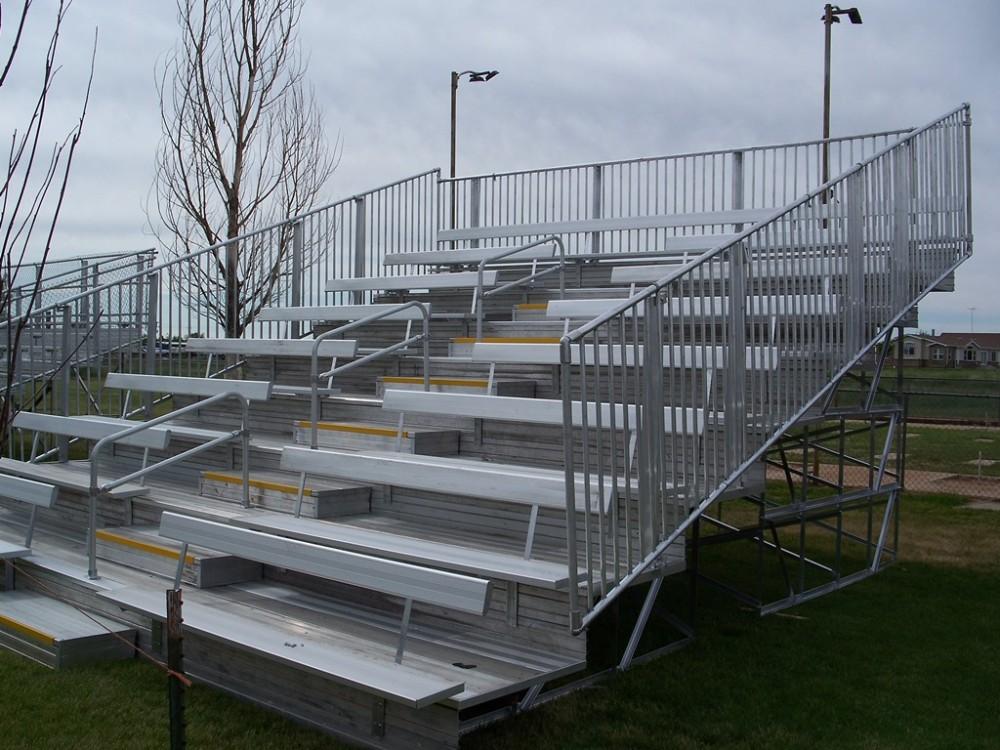 Metal Stadium Seats : Rows used aluminum bleachers for sale buy
