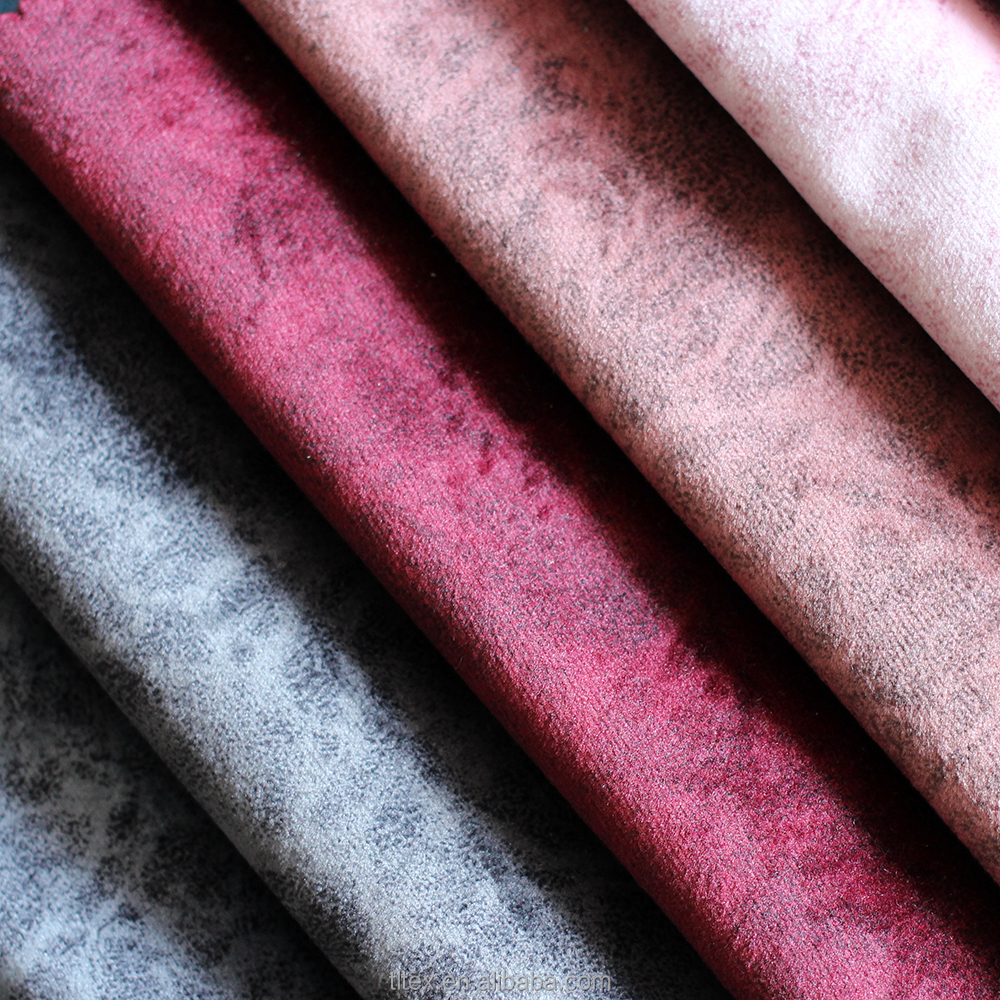 Bright Color Velour Fabric And Black/White Fire Proof Velvet