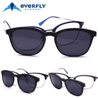 Small Quality optical frame metal eyeglasses eyewear with magnetic clip on glasses polarized sunglasses