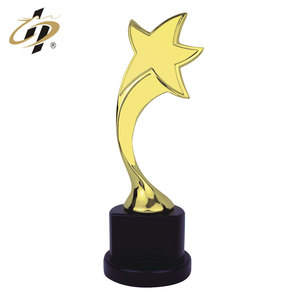 Wholesale cheap customized metal gold star award trophy cup