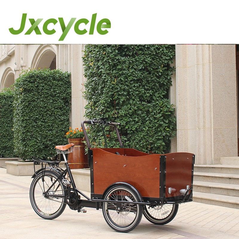 new cargo tricycle hree wheel bicycle transport goods or children safety