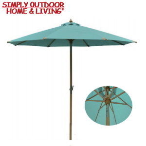 High Quality Garden Parasol Outdoor Sunshade Solar Charger Umbrella