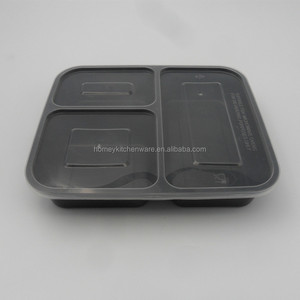 Best Selling 3 Compartment Reusable Food Storage Containers with Lids/Meal Prep Container Food Storage