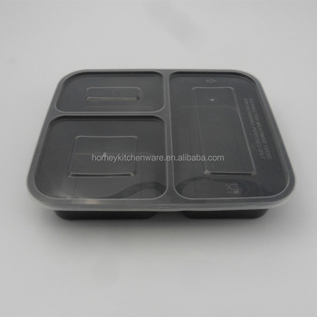 Best Selling 3 Compartment Reusable Food Storage Containers With