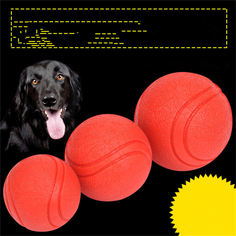Various Size Molar Bite Solid Dog Pet Toy Rubber Skin Texture Rope Bouncy Ball Toys