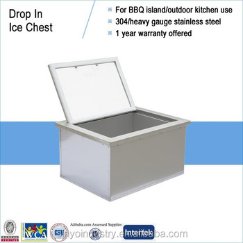 Stainless 304 insulated ice cooler buy stainless 304 for Drop in cooler for outdoor kitchen