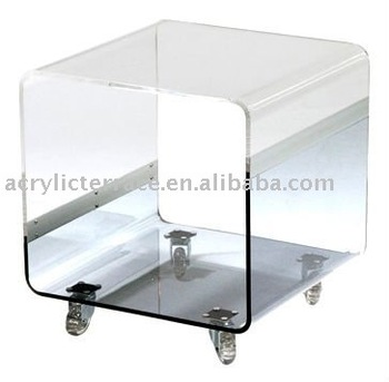 Matthew Clear Acrylic Rounded Cube Side Table Buy Acrylic Black - Acrylic cube side table