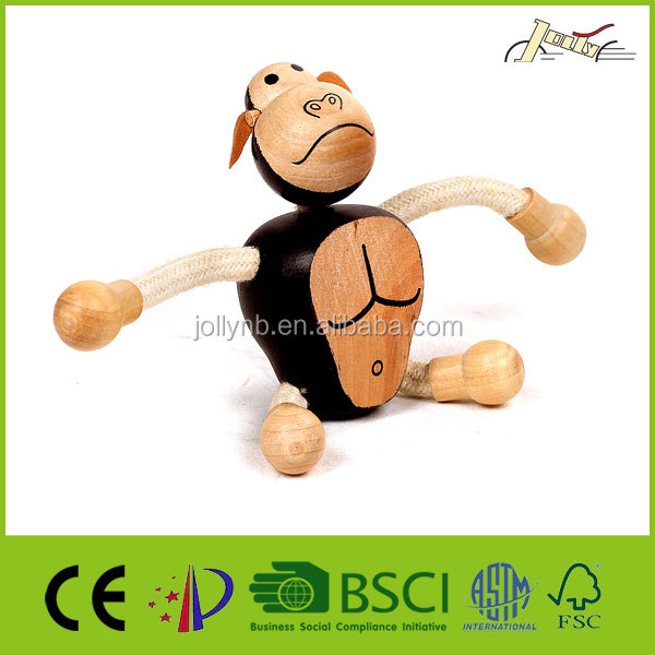 Gorilla 3D Wood Education Animal Sculptures for Kids Toy