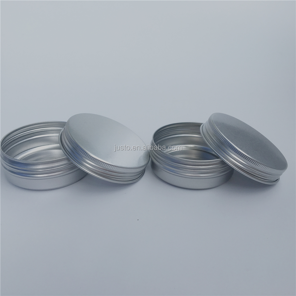 2 Oz 60G Screw Top Round Jars Metal Tin Cans Aluminum Tin Containers
