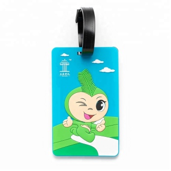 New product ideas factory wholesale custom rubber soft pvc luggage tag