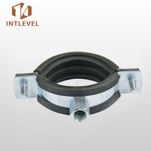 Intlevel Stainless Steel Reinforced with Rubber Pipe Clamp factory