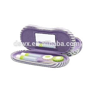 custom original new design double glasses display case, contact lens travel case/kit