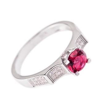 Frauen Ring Mit Rundschnitt Grossen Stein Rote Zirkonia Cz Silberhochzeit Partei Ring Buy Ring Ehering Silberring Product On Alibaba Com