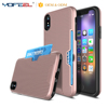 Mobile Phone Hard Card Slots Phone Case For iPhone x Cover TPU PC