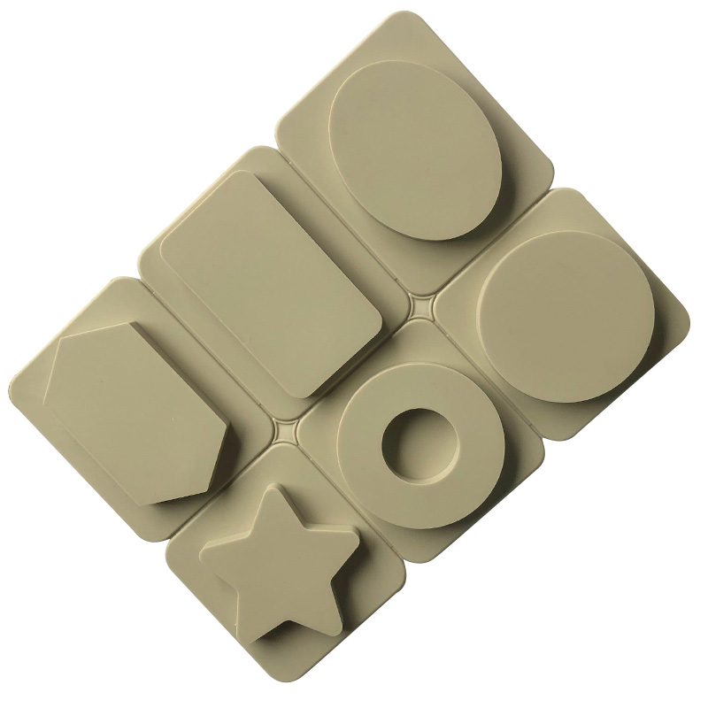 7014 factory stock 6 cavity different shape, Gypsum aromatherapy tablet,silicone candle molds