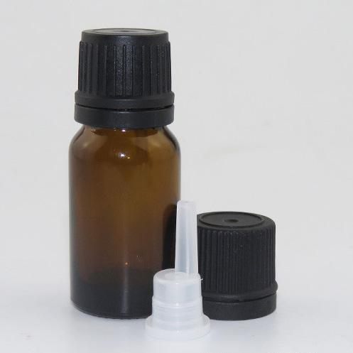 10 мл стеклянная бутылка-капельница 10 мл бутылка для эфирного масла из янтарного стекла с редуктором