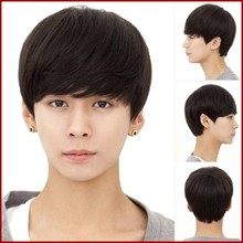 2015 Fashion handsome shedding free virgin remy brazilian natural hair wig for men