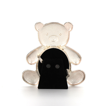 Pink enamel teddy bear metal baby picture photo frame, View picture ...