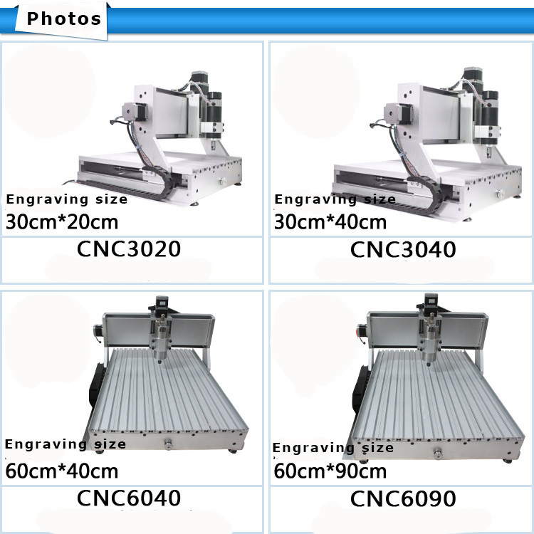 wood craft machine 3040 cnc faceting machine for soft metal pcb circuit board