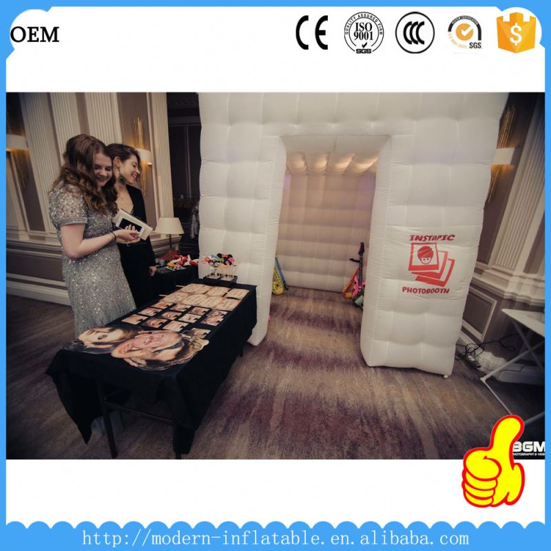 2014 lighting inflatable photo booth with led
