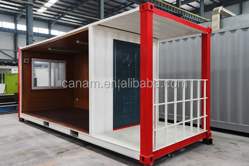 New Zealand 20/40 feet prefab container dormitory two bedrooms house