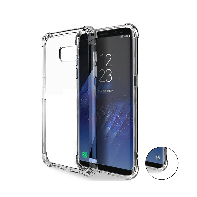 Drop Cushion Crystal Clear Soft TPU Bumper Slim Protective Case Cover for Samsung Galaxy S8 S8 plus 2017