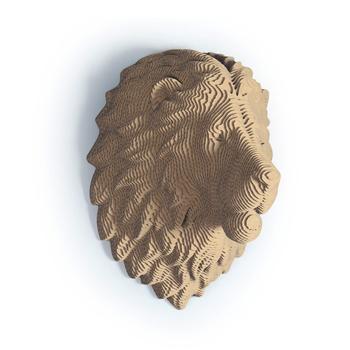 Cardboard Paper Eco Friendly Animal Lion Head 3d Wall Sculpture