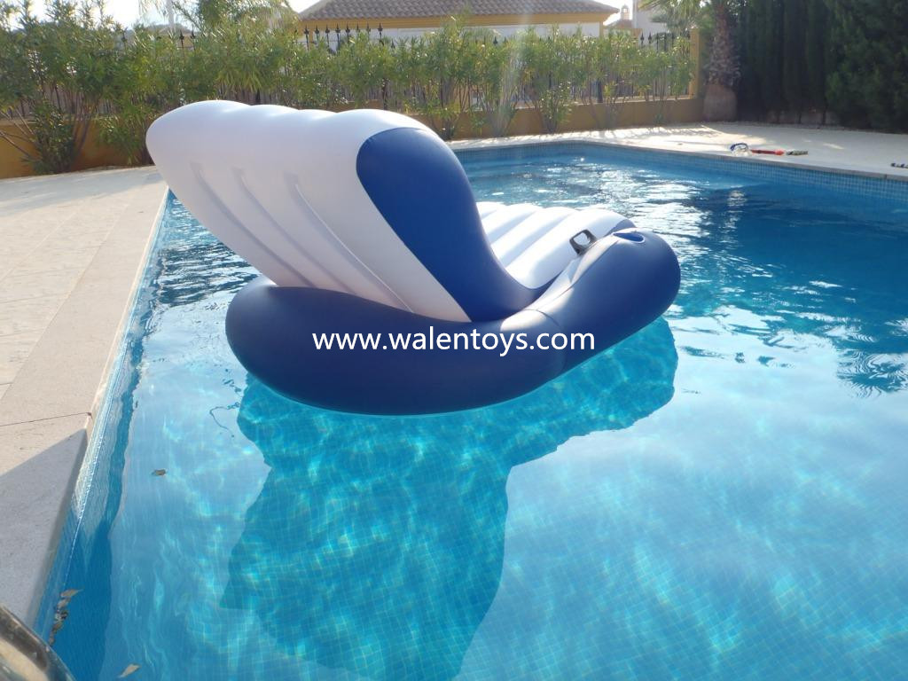 Floating Pool Lounger Inflatable Beach Chair Water Raft