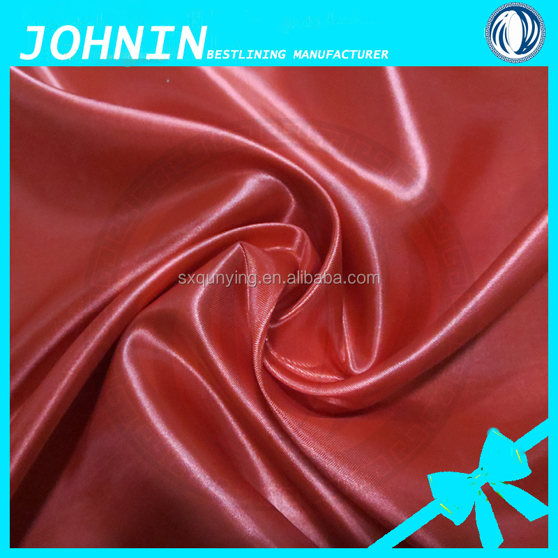 2016 fashionable dress fabric woven polyester matt spandex satin fabric 100 polyester stretch satin fabric