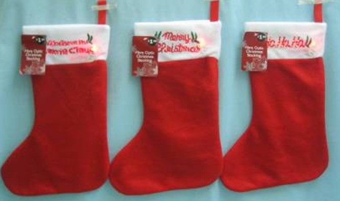 Wholesale decorative artificial christmas stocking plain christmas