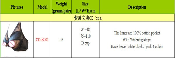 Whole sell,free shipping silicone breast bra,sexy prosthesis underwear,cotton sexy push up bra for uni-sex 75-110 Dcup