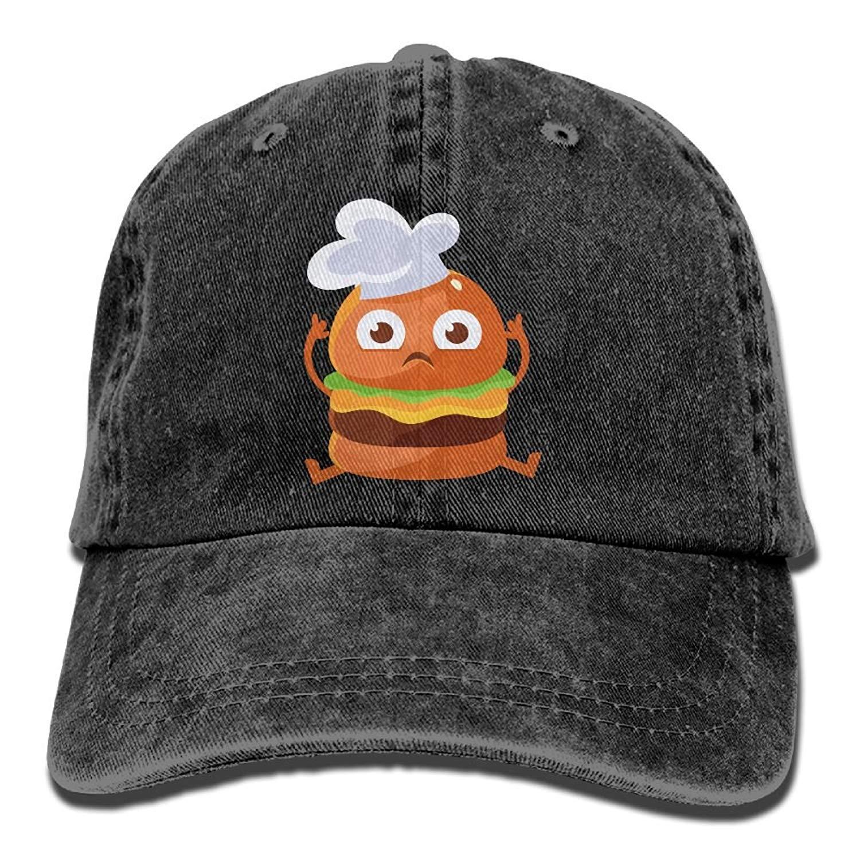 2fe26b55631 Get Quotations · NavyLife Unisex Burger Chef Washed Cotton Denim Baseball  Cap Vintage Adjustable Dad Hat for Men Women