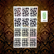 1PC Glitter Fashion Fruit Pattern Nail Art Template Stencil Stickers HJV213 Easy Paint Image Stamping Painted