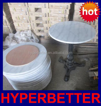 DIA 30u0026quot; White Round Marble Slab Table Top