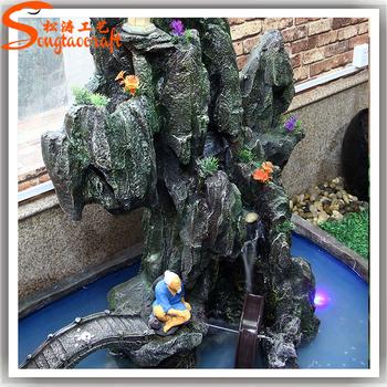 Manmade Durable Fiberglass Indoor Water Fountains Garden Fountain