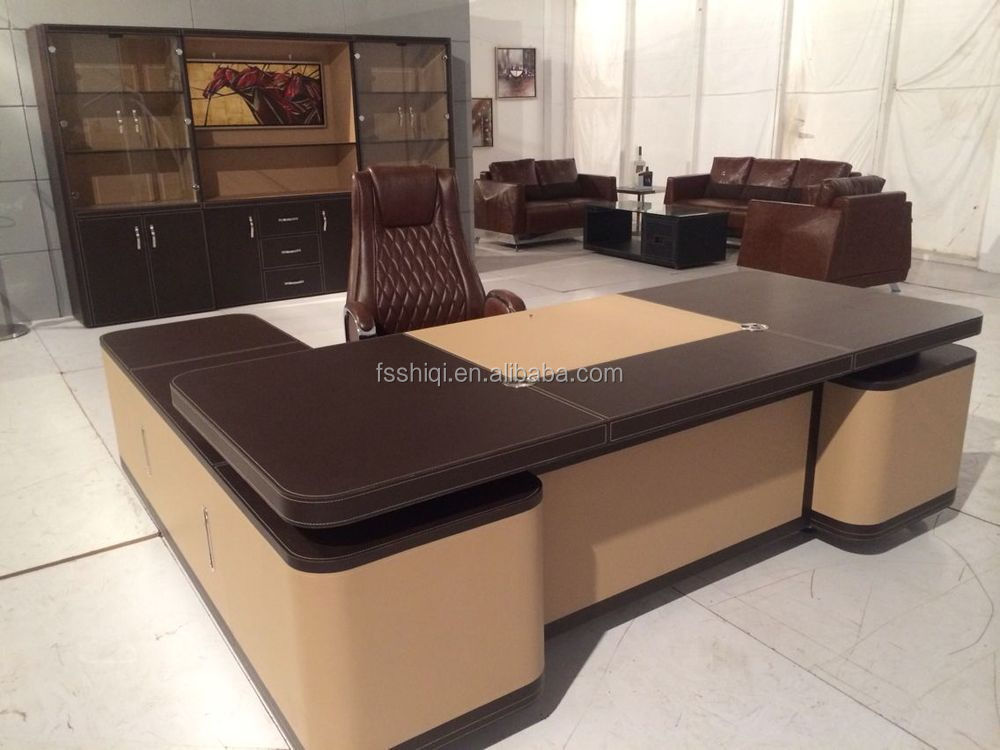 High Office Desk. Leather Office Desk Set High End Luxury T