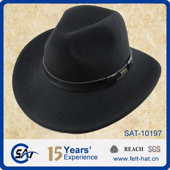 100% Australiano Puro Cappelli Da Cowboy Nero 128b6b8f0b8