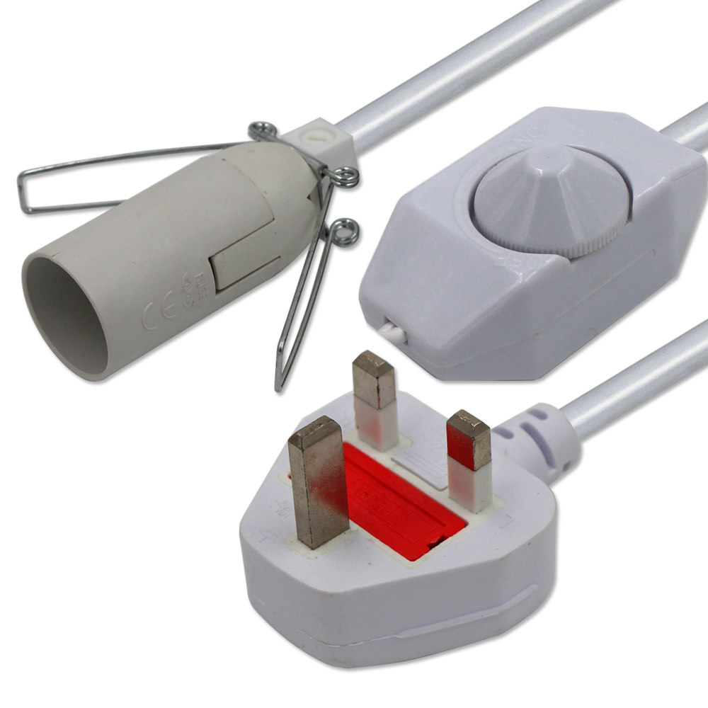 E14 bulb socket power cord
