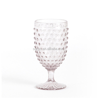 Solid color drinking wine glass popular hobnail design unique handblown manufacturing wedding decor