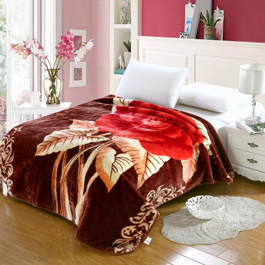wholesale china blankets 100% polyester new design raschel blanket